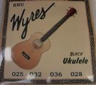 Wyres (USA) black Ukulele Soprano String Set